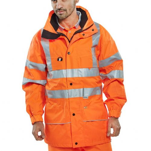 BSeen Hi Vis Orange Carnoustie Jacket